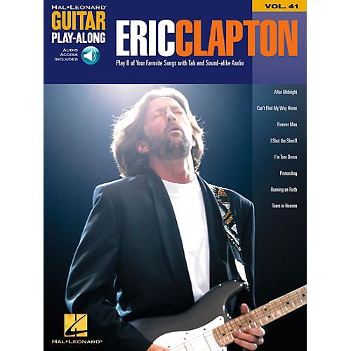 Hal Leonard Eric Clapton Guitar Play-Along Series Book with CD Vol. 41