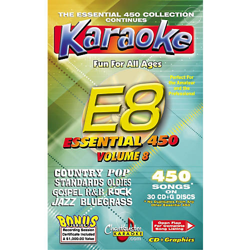 Chartbuster Karaoke Essential 450 Vol. 8 Karaoke CD+G Library