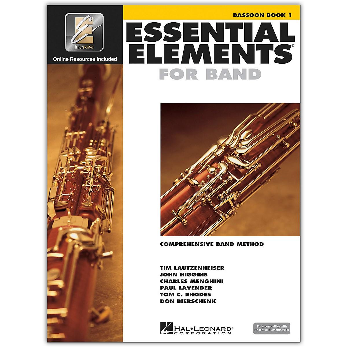 Hal Leonard Essential Elements Bassoon 1 Book/Online Audio