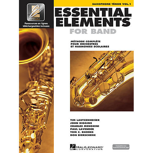 Hal Leonard Essential Elements French Edition EE2000 Tenor Saxophone Essential Elements for Band Series Book Media Online