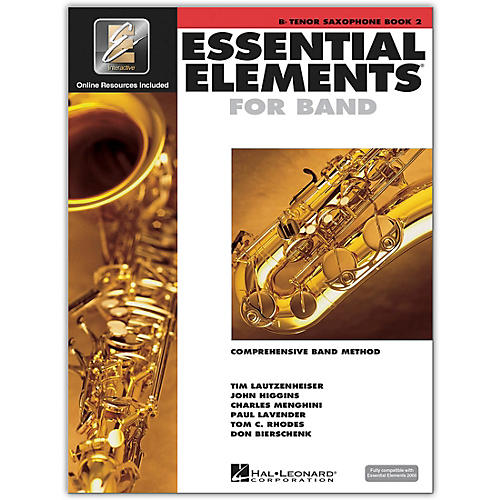 Hal Leonard Essential Elements for Band - Bb Tenor Saxophone 2 Book/Online Audio