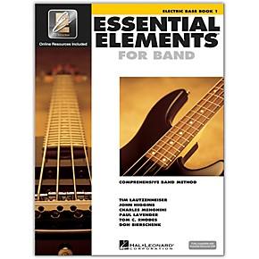 hal leonard essential elements for band electric bass 1 book online audio guitar center. Black Bedroom Furniture Sets. Home Design Ideas