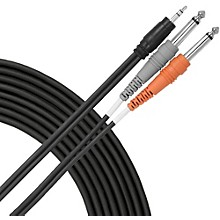 "Livewire Essential Interconnect Y-Cable 3.5 mm TRS Male to 1/4"" TS Male"