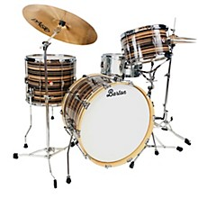 Essential Maple 3-Piece Shell Pack with 22 in. Bass Drum Dark Brown Satin