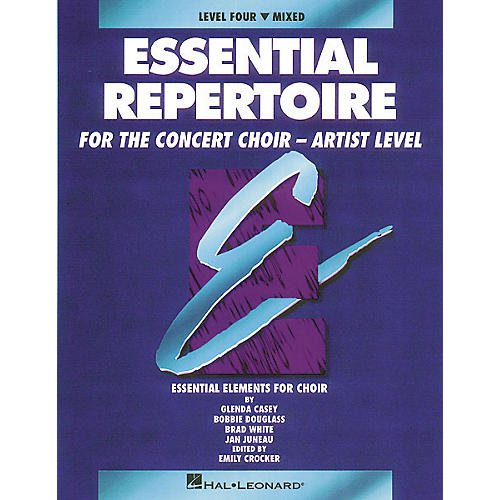 Hal Leonard Essential Repertoire for the Concert Choir - Artist Level Mixed Perf/Acc CDs (2) Composed by Glenda Casey