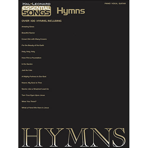 Hal Leonard Essential Songs - Hymns arranged for piano, vocal, and guitar (P/V/G)