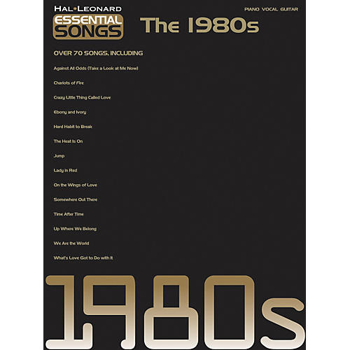 Hal Leonard Essential Songs - The 1980's Piano/Vocal/Guitar Songbook