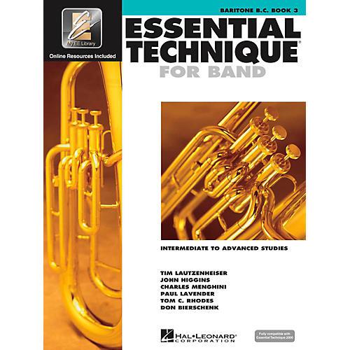 Hal Leonard Essential Technique for Band - Baritone B.C. 3 Book/Online Audio