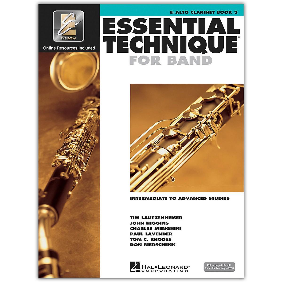 Hal Leonard Essential Technique for Band - Eb Alto Clarinet 3 Book/Online Audio