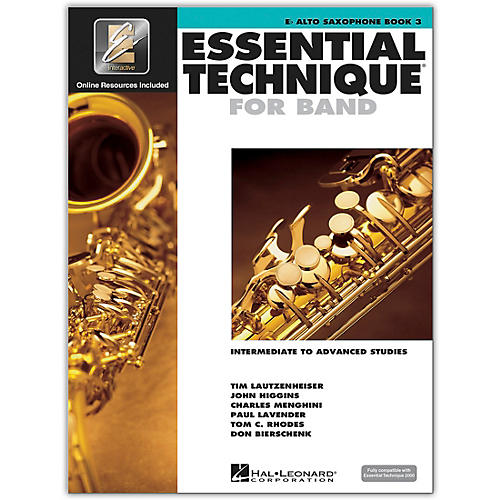Hal Leonard Essential Technique for Band - Eb Alto Saxophone 3 Book/Online Audio