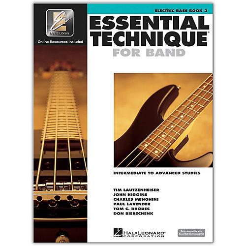 hal leonard essential technique for band electric bass 3 book online audio guitar center. Black Bedroom Furniture Sets. Home Design Ideas