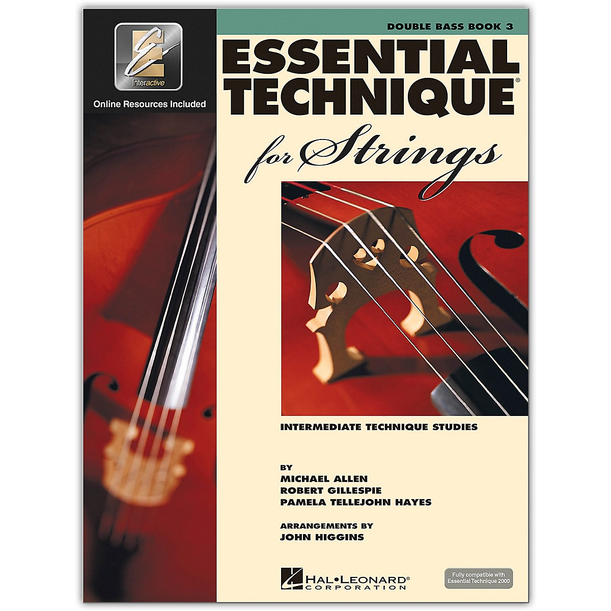 Hal Leonard Essential Technique for Strings - Double Bass 3 Book/Online Audio