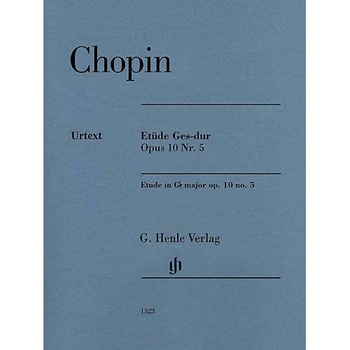 G. Henle Verlag Etude in G-flat Major, Op. 10, No. 5 (Edition with Fingering) Henle Music Folios Series Softcover
