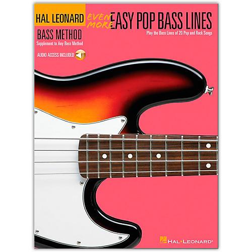 Hal Leonard Even More Easy Pop Bass Lines (Book/Online Audio)