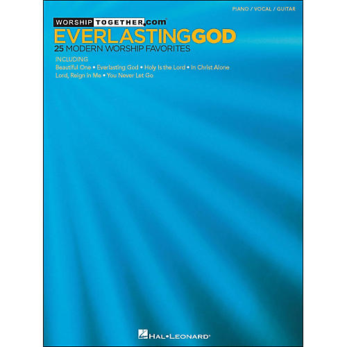 Hal Leonard Everlasting God - 25 Modern Worship Favorites arranged for piano, vocal, and guitar (P/V/G)