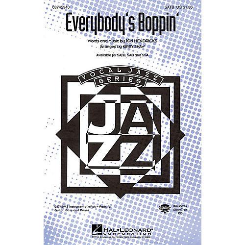 Hal Leonard Everybody's Boppin' SSA Arranged by Kirby Shaw