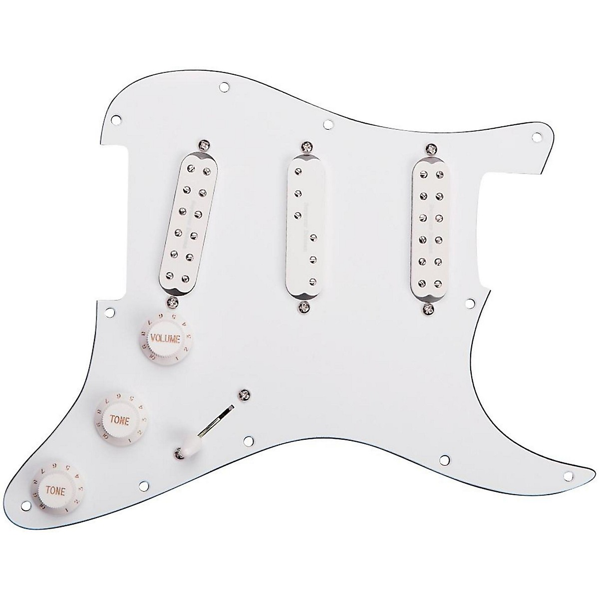 Seymour Duncan Everything Axe Loaded Pickguard White