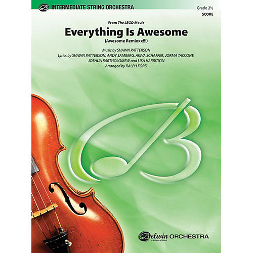Alfred Everything Is Awesome (from The LEGO Movie) String Orchestra Grade 2.5