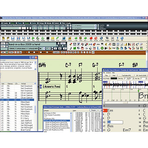 PG Music EverythingPAK Band-in-a-Box and RealBand 2009 for Windows Software