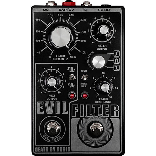 Death By Audio Evil Filter Hyper Resonant Multi Mode Filter/Fuzz Pedal