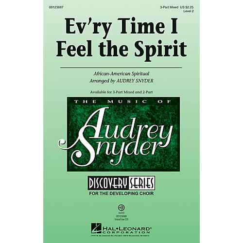 Hal Leonard Ev'ry Time I Feel the Spirit (Discovery Level 2) 3-Part Mixed arranged by Audrey Snyder