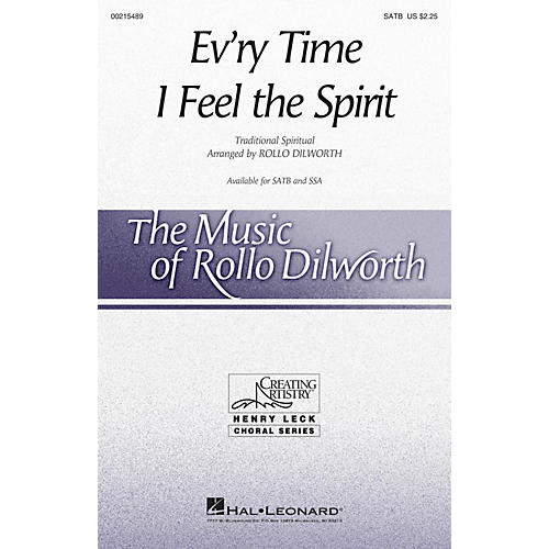 Hal Leonard Ev'ry Time I Feel the Spirit SATB arranged by Rollo Dilworth