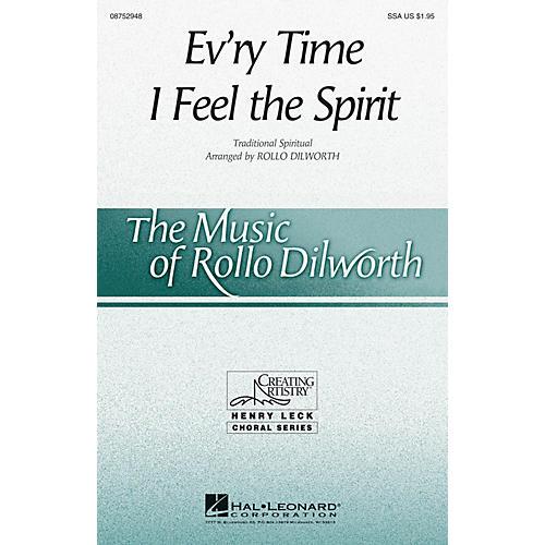 Hal Leonard Ev'ry Time I Feel the Spirit SSA arranged by Rollo Dilworth