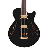 Deals on D'Angelico Excel Bass Fretless Hollowbody Electric Bass Black