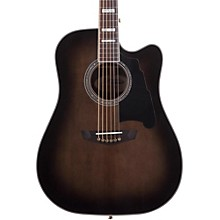 Excel Bowery Acoustic-Electric Guitar Level 2 Grey Black 888366058480