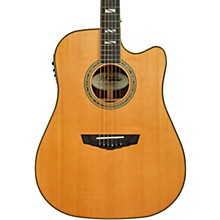 Excel Bowery Dreadnought Acoustic-Electric Guitar Vintage Natural