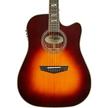 Excel Bowery Dreadnought Acoustic-Electric Guitar Vintage Sunburst