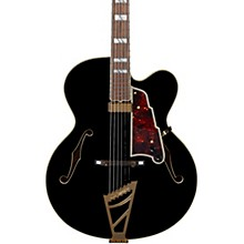 Excel EXL-1 Hollowbody Electric Guitar with Stairstep Tailpiece Level 1 Black