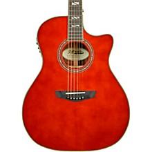 Excel Gramercy Grand Auditorium Acoustic-Electric Guitar Auburn