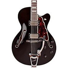 Excel Series 175 Hollowbody Electric Guitar with Bigsby B-30 Black