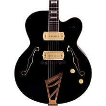 Excel Series 59 Hollowbody Electric Guitar with Stairstep Tailpiece Black
