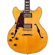 D'Angelico Excel Series DC Left-Handed Semi-Hollowbody Electric Guitar with Stopbar Tailpiece
