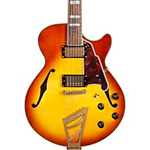 Excel Series DC Semi-Hollow Electric Guitar with Stairstep Tailpiece Iced Tea Burst
