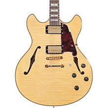 Excel Series DC Semi-Hollow Electric Guitar with Stopbar Tailpiece Natural