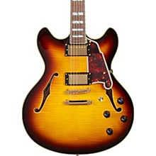 Excel Series DC Semi-Hollow Electric Guitar with Stopbar Tailpiece Vintage Sunburst