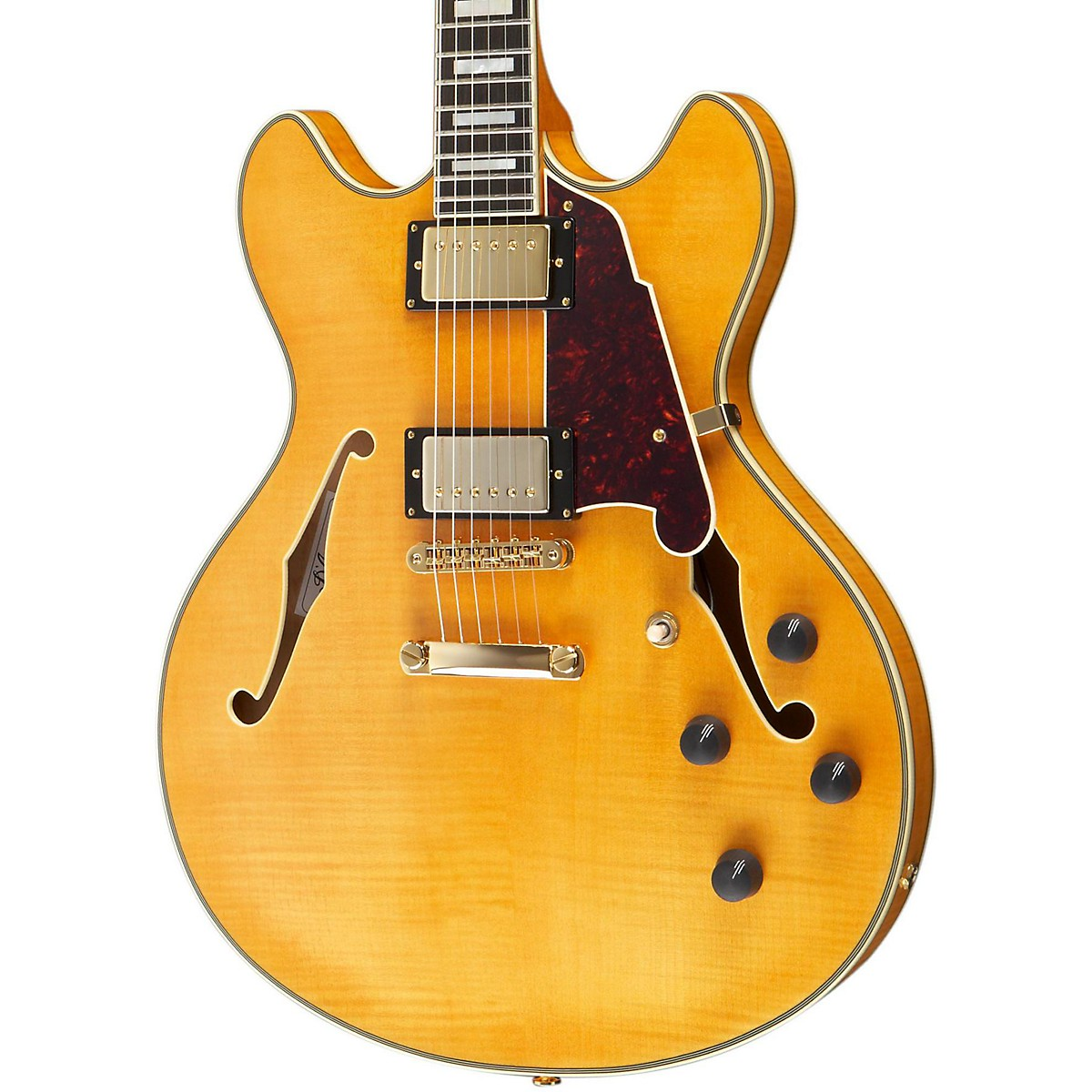 D'Angelico Excel Series DC Semi-Hollow Electric Guitar with Stopbar Tailpiece