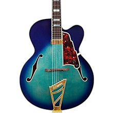 Excel Series EXL-1 Hollowbody Electric Guitar with Stairstep Tailpiece Level 2 Blue Burst 190839338853