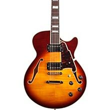 Excel Series SS Semi-Hollow Electric Guitar with Stopbar Tailpiece Honey Burst