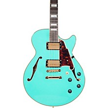 D'Angelico Excel Series SS Semi-Hollow Electric Guitar with Stopbar Tailpiece Level 1 Surf Green