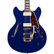 Excel Series Shoreline DC Bigsby Tailpiece Semi-Hollowbody Electric Guitar Indigo Blue Tortoise Pickguard