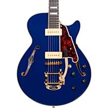 Excel Series Shoreline SS Bigsby Tailpiece Semi-Hollowbody Electric Guitar Indigo Blue Tortoise Pickguard