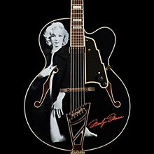 D'Angelico Excel Series Special Edition Edition Marilyn Monroe EXL-1 Hollowbody Electric Guitar with Stairstep Tailpiece Black