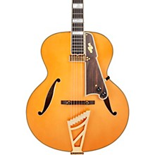 Excel Series Style B Throwback Hollowbody Electric Guitar with USA Seymour Duncan Floating Mini Humbucker Vintage Natural