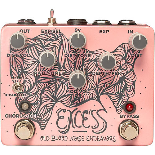 Old Blood Noise Endeavors Excess Delay / Chorus Distortion Effects Pedal