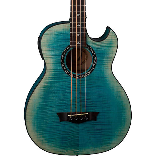 Dean Exhibition Flame Maple Acoustic-Electric Bass with Aphex