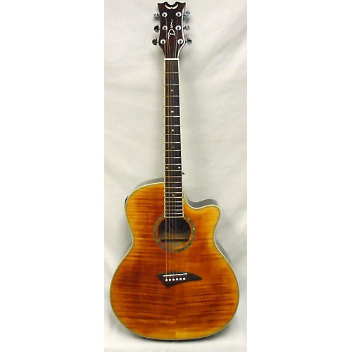 Dean Exhibition Flame Maple Acoustic Electric Guitar